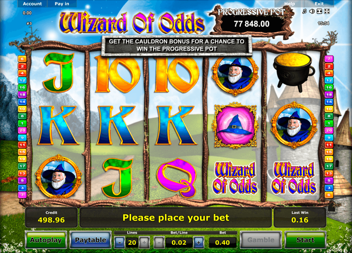 wizard of odds novomatic tragamonedas gratis