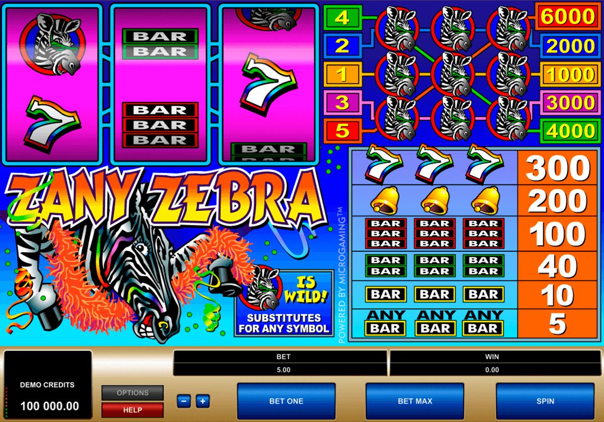zany zebra microgaming tragamonedas gratis